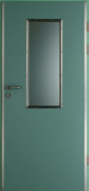 однопольная противопожарная дверь со стеклом