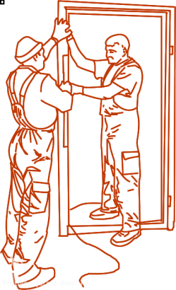 Установка противопожарных дверей снип
