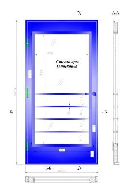 дверь переходного балкона металлическая