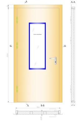 Противопожарная дверь ДПМ 01 30 со стеклом