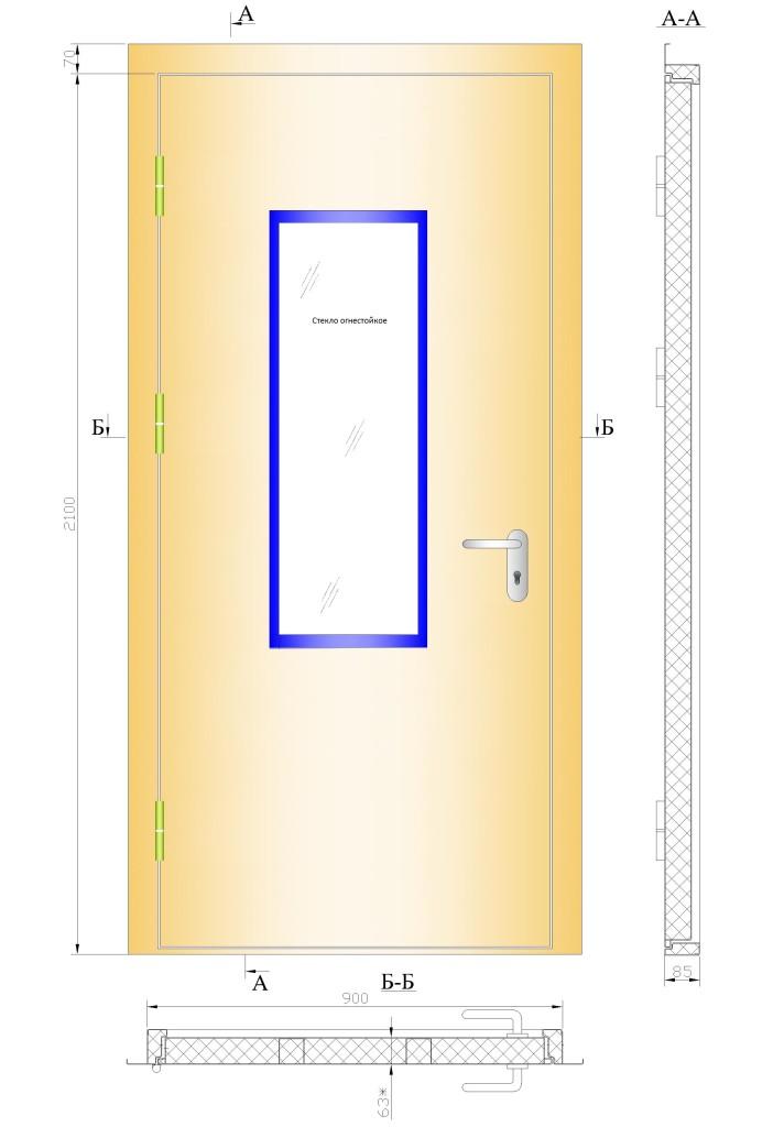 двери противопожарные металлические двупольные прайс
