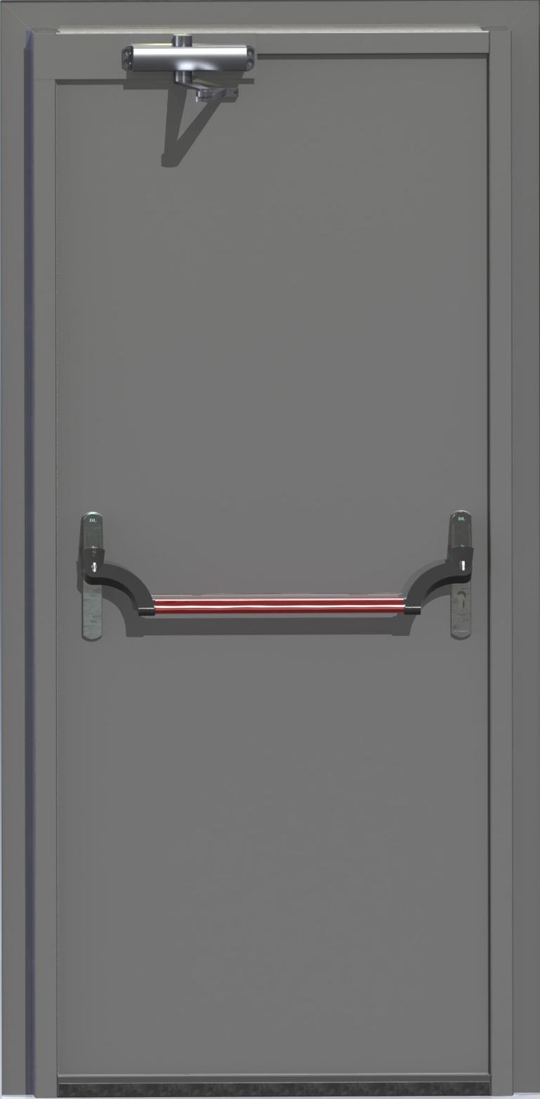 Однопольная противопожарная дверь антиапаника
