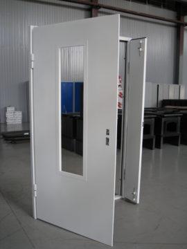 Техническая дверь со стеклом