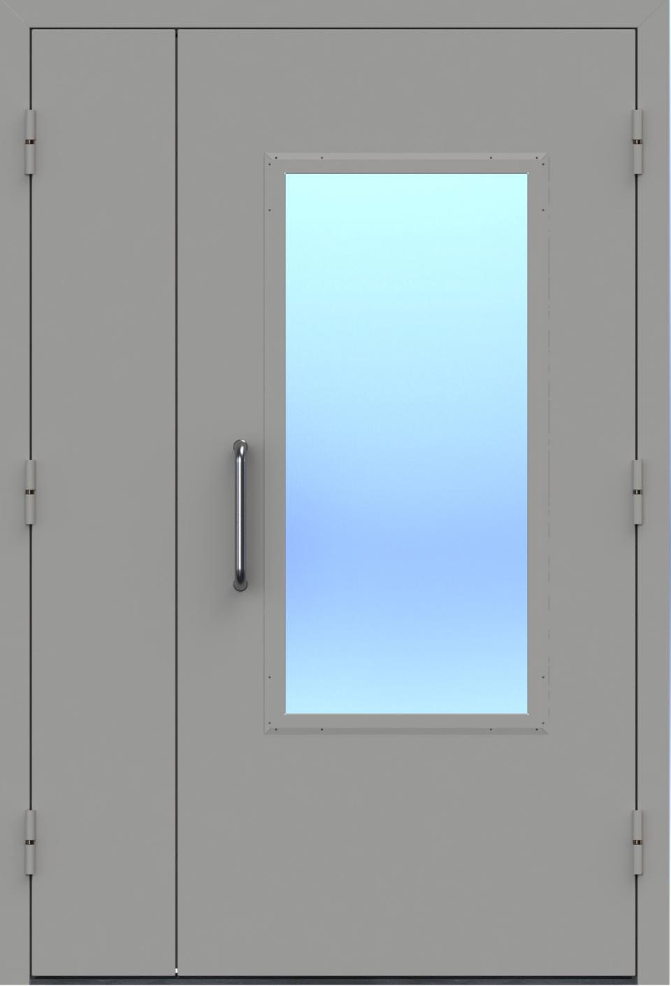 Двупольная техническая дверь со стеклом