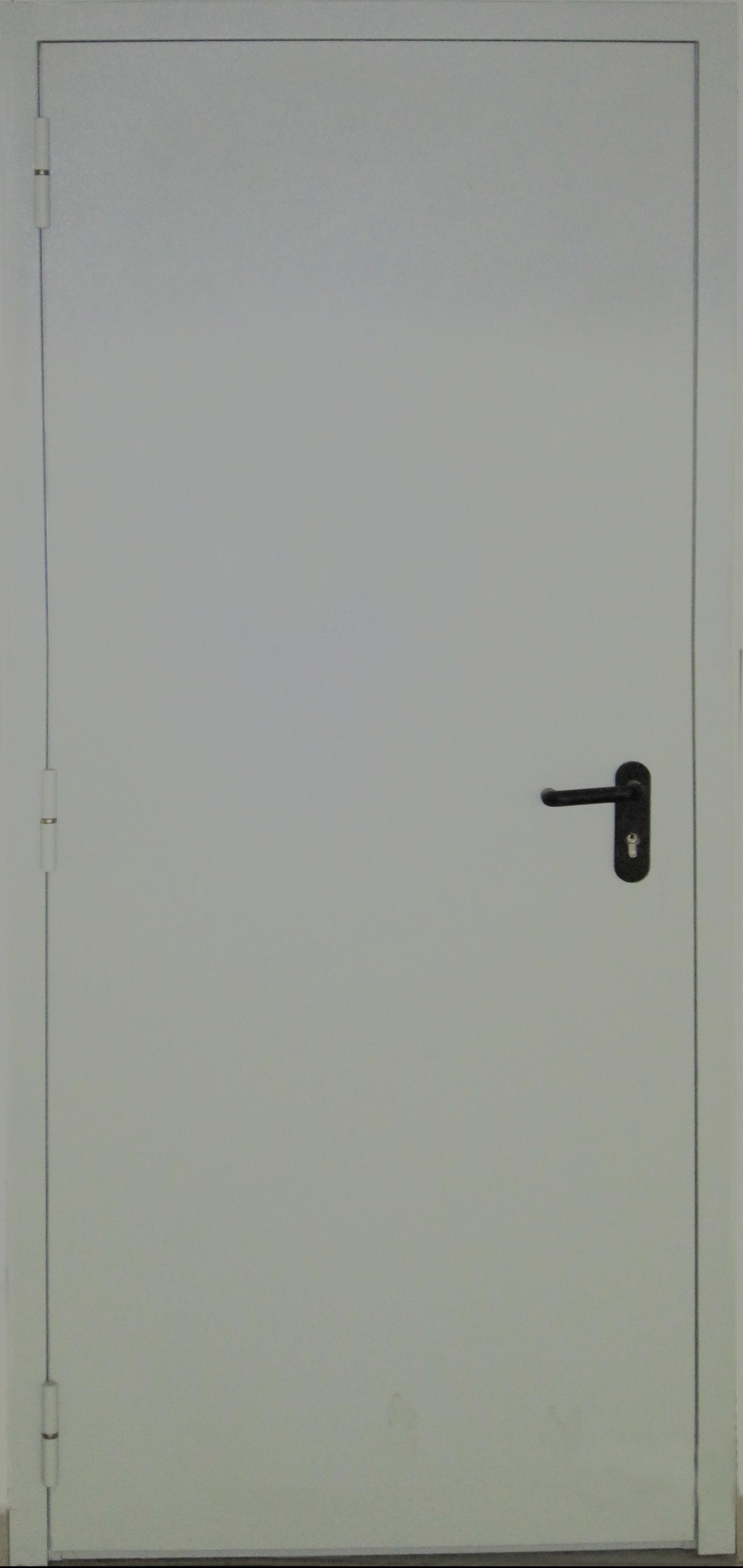 техническая глухая однопольная дверь