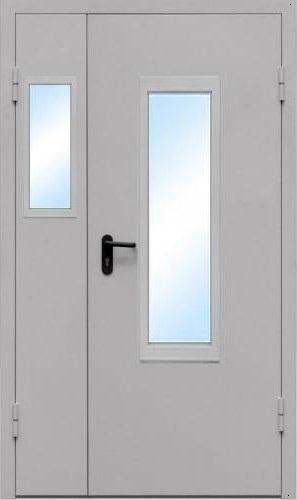 Тамбурная двупольная дверь со стеклом