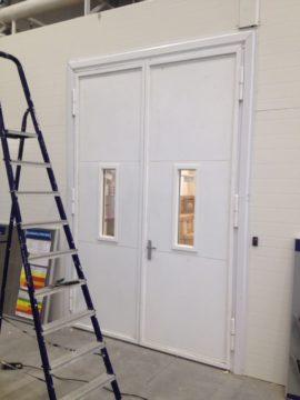 Противопожарная дверь на заводе Хюндай
